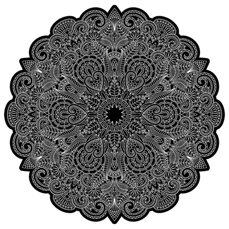 openwork: illustration with floral ornament for print.