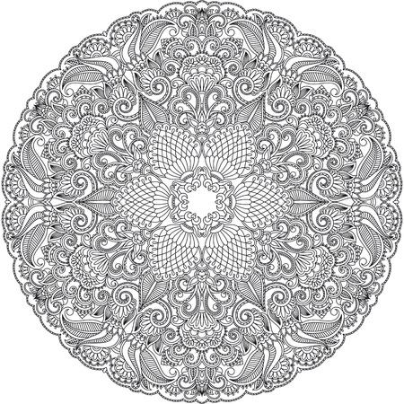 crochet: Vector illustration with vintage pattern for print. Illustration