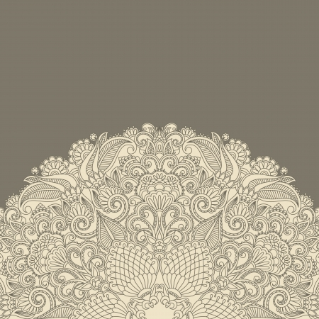 openwork: Vector illustration greeting card with floral pattern.