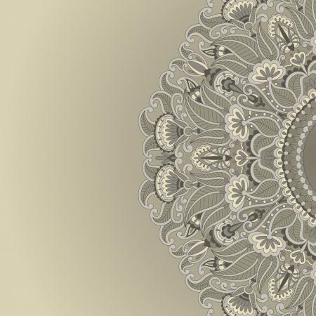 illustration with vintage pattern for print. Illustration