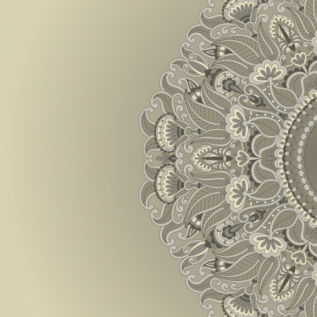 illustration with vintage pattern for print. Ilustrace