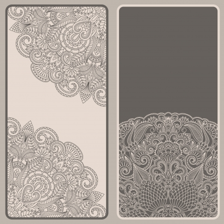 vintage invitation card set Vector