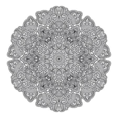 illustration with vintage pattern for print  일러스트