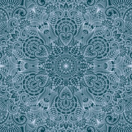 illustration with vintage pattern for print  Ilustracja