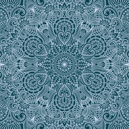illustration with vintage pattern for print  Vector