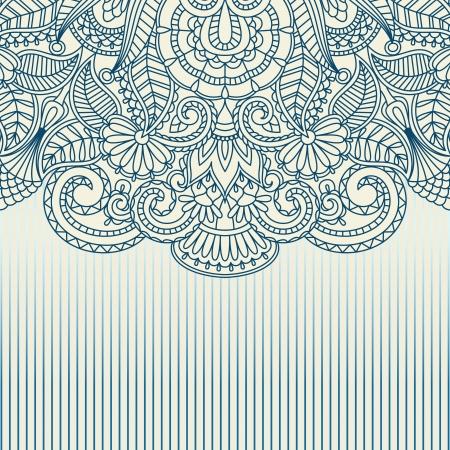 Illustratie met uitstekend patroon voor print. Stockfoto - 15584444