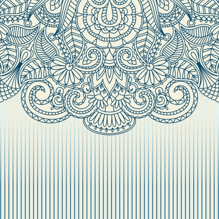 illustration with vintage pattern for print. Vector
