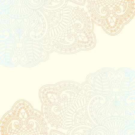 illustration with vintage pattern for invitation card.