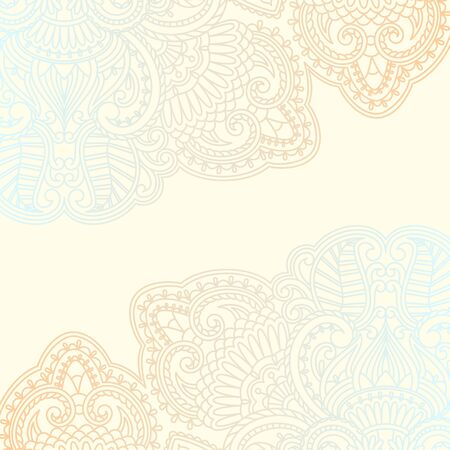 illustration with vintage pattern for invitation card.
