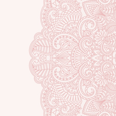 illustratie met uitstekend patroon voor uitnodigingskaart. Vector Illustratie