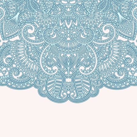 illustration with vintage pattern for invitation card. Vector