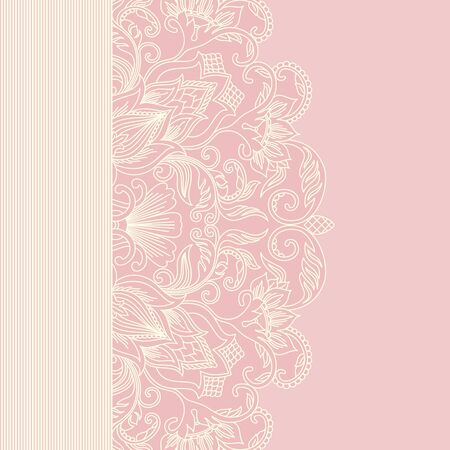 illustration greeting card with floral pattern. Vector