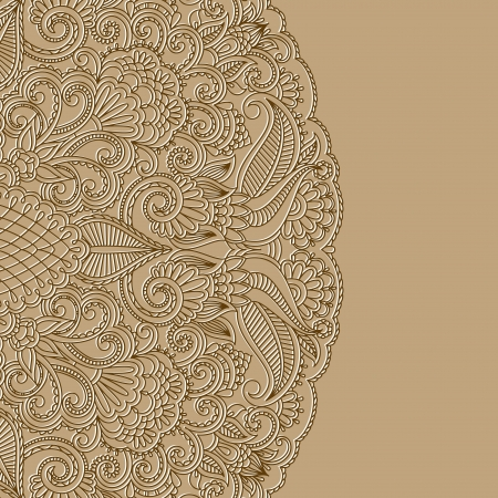 greeting card with floral pattern.