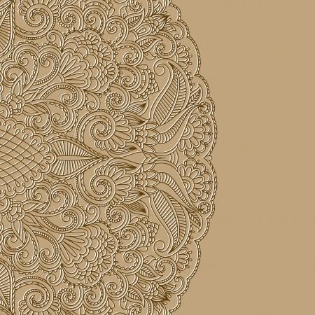 karty z pozdrowieniami z kwiatowym wzorem. Ilustracja