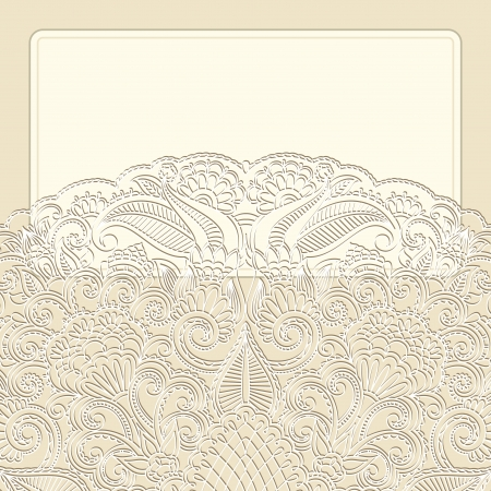 greeting card with floral pattern. Vector