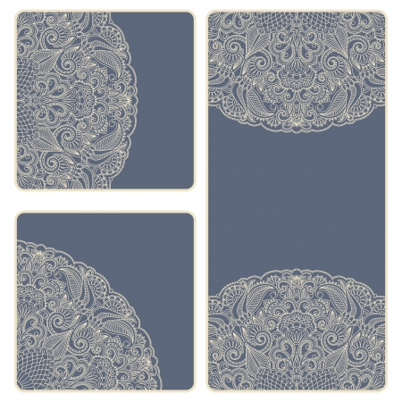 vintage invitation card set. Template frame design for card. Stock Vector - 15843801