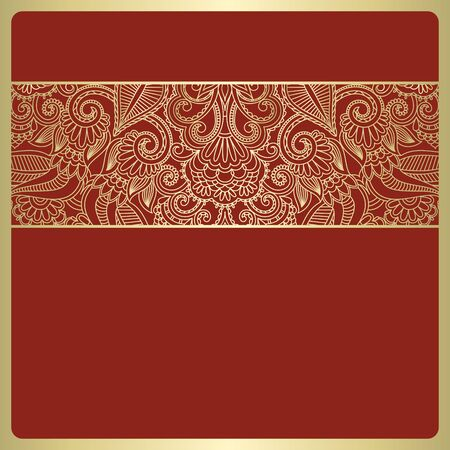 Vector illustration with vintage pattern for invitation card. Vector