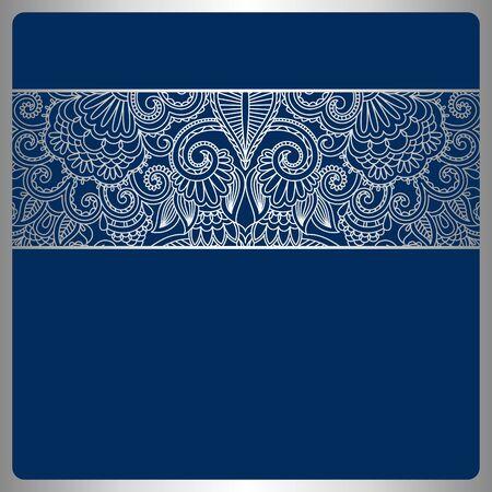 Vector illustration with vintage pattern for print. Illustration