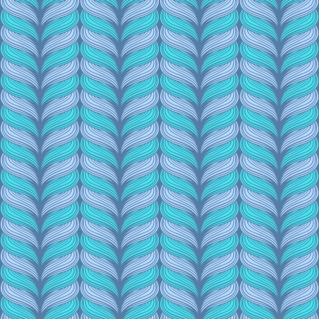 illustration with seamless knitting hand-drawn pattern. Vector