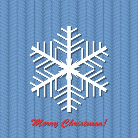 illustration with snowflake on blue background. Stock Vector - 16216936