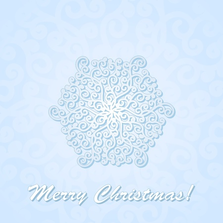 illustration with snowflake on blue background. Stock Vector - 16216929