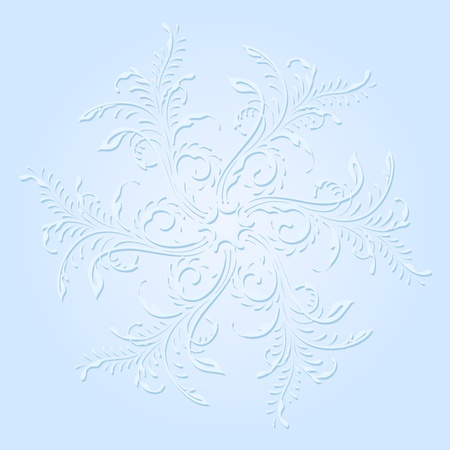 illustration with snowflake on blue background. Stock Vector - 16216938