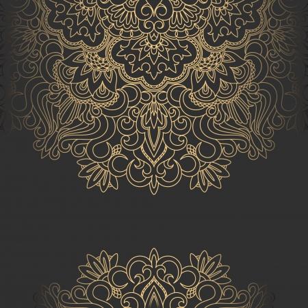 Vector illustration with vintage pattern for print. Ilustracja
