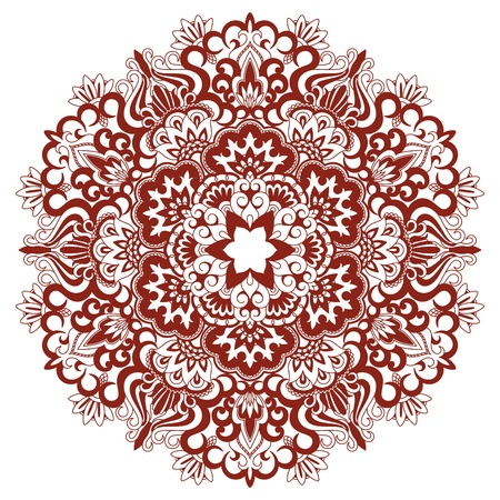 Vector illustration with vintage pattern for print and embroidery. Vector