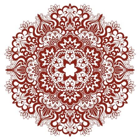 doilies: Vector la ilustraci�n con el patr�n de la vendimia para la impresi�n y bordado. Vectores