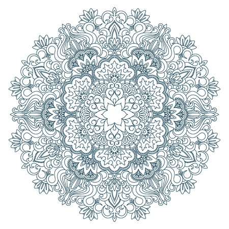 Vector illustration with vintage pattern for print, embroidery. Vector Illustration