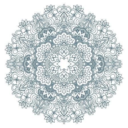 doilies: Vector la ilustraci�n con el patr�n de la vendimia para la impresi�n, bordado. Vectores