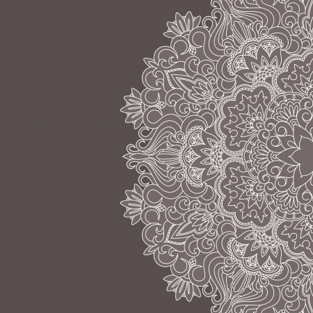 lace doily: Vector illustration with vintage pattern for print. Illustration