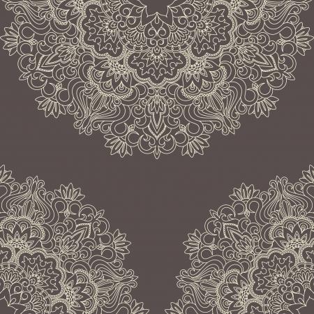 arabesque: Illustrazione vettoriale con il modello d'epoca per la stampa, il ricamo. Vettoriali