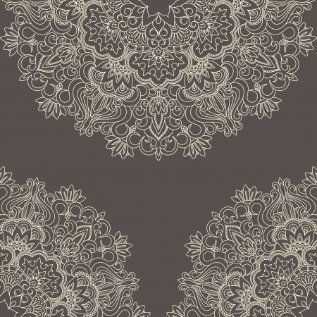 arabesque: Vector illustration with vintage pattern for print, embroidery.