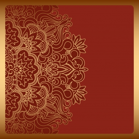 arabisch patroon: Vector illustratie met uitstekend patroon voor print. Stock Illustratie