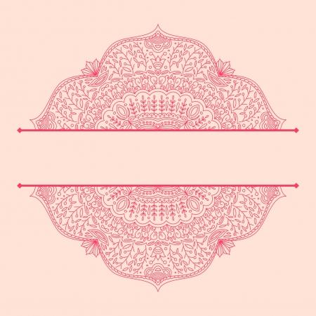 Vektor-Illustration mit Vintage-Muster für den Druck.