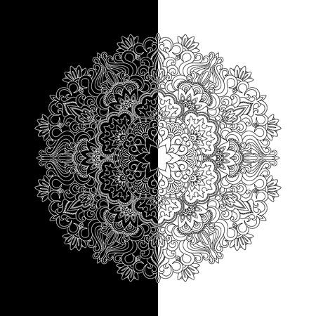 Ilustracji wektorowych z rocznika wzór do druku i haftu.