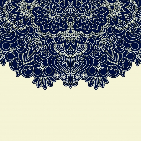 Vector illustration with vintage pattern for print. 일러스트