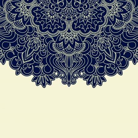 doily: Vector illustration with vintage pattern for print. Illustration