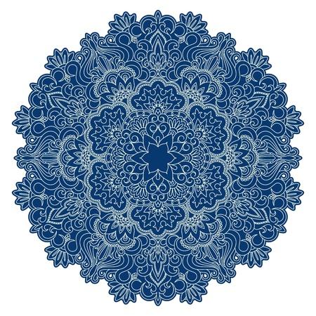 broderie: Vector illustration avec motif vintage pour impression, la broderie.