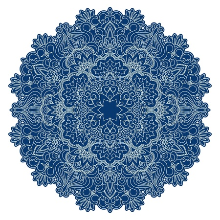 round: Vector illustration with vintage pattern for print, embroidery.