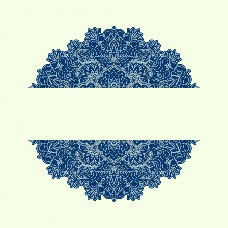 retro lace: Vector illustration with vintage pattern for print. Illustration