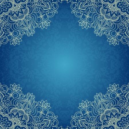 arabesque: Vector la ilustraci�n con el patr�n de la vendimia para la impresi�n.