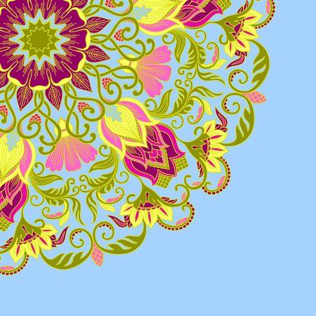 lace filigree: illustration with vintage pattern for print. Illustration