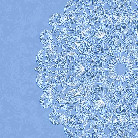 illustration with vintage pattern for print. Ilustracja