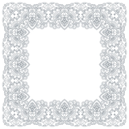 vintage pattern for print, embroidery (you can use this pattern for carpet, shawl, pillow, cushion). Vector