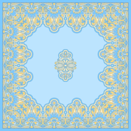 vintage pattern for print, embroidery  you can use this pattern for carpet, shawl, pillow, cushion   Stock Vector - 16603144