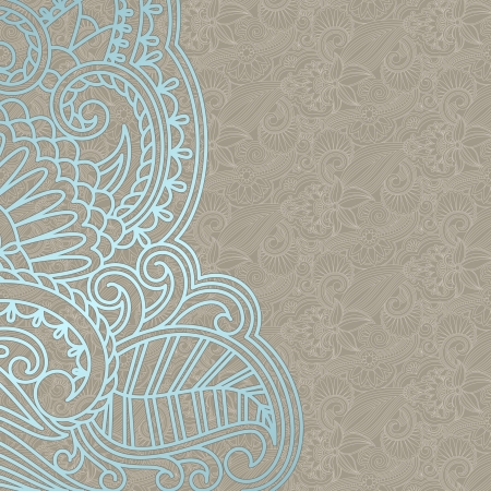 arabesque: illustration with vintage pattern for print. Illustration
