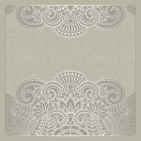 illustration with vintage pattern for greeting card. Stock Vector - 16721636