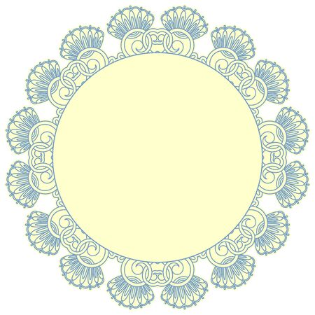 Vector illustration with vintage pattern for print, embroidery. Vector